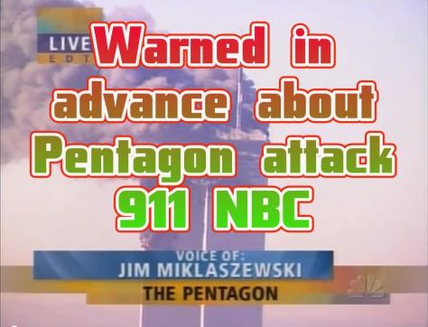 Jim Miklaszewski warned in advance about Pentagon attack 911 NBC