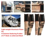 Aluminium planes can not cut hard steel structures
