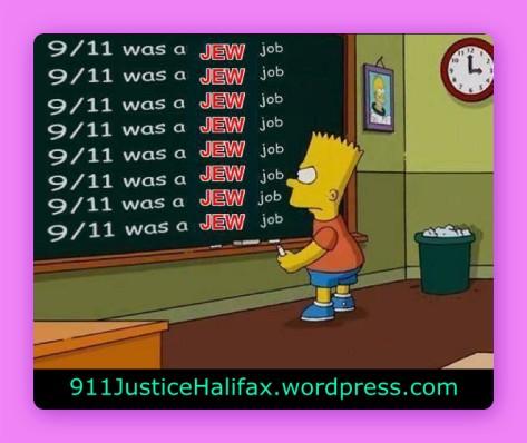 Bart Simpson 911 Jew Job