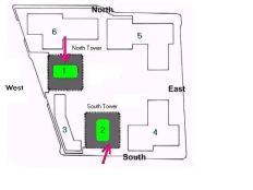 WTC impact diagram