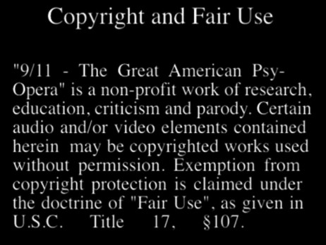 9-11 The Great American Psy-Opera (copyright)